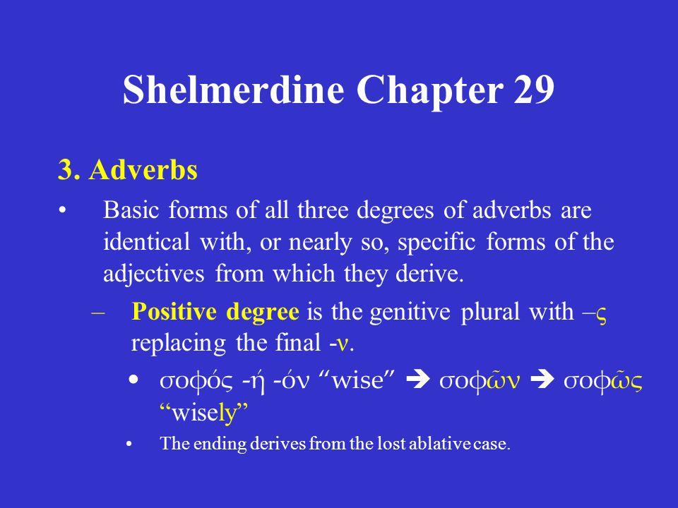 Shelmerdine Chapter 29 4.The interrogative pronoun/adjective •τίς λέγει; Who is speaking.