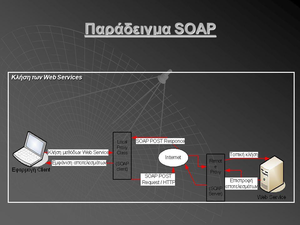 Παράδειγμα SOAP Κλήση των Web Services