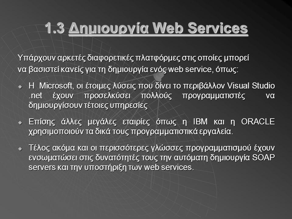 Παράδειγμα.2  Φορείς υλοποιούν βασικές λειτουργίες σαν Web Services π.