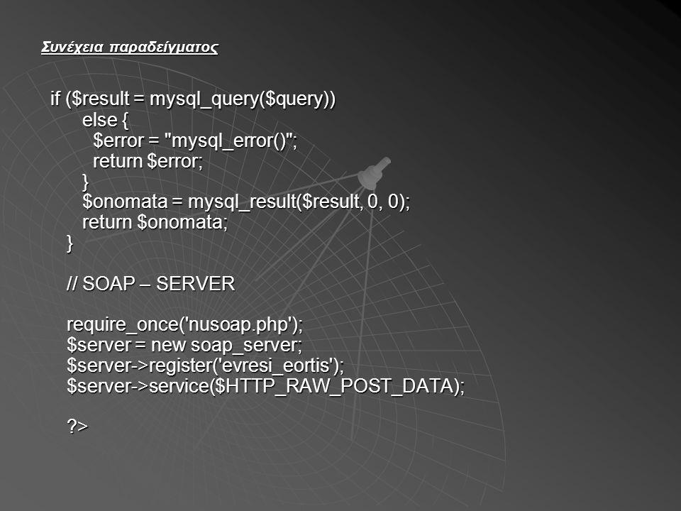 Δομή ενός μηνύματος SOAP Η δομή ενός μηνύματος SOAP παρουσιάζεται στο επόμενο σχήμα: Η δομή ενός μηνύματος SOAP παρουσιάζεται στο επόμενο σχήμα: