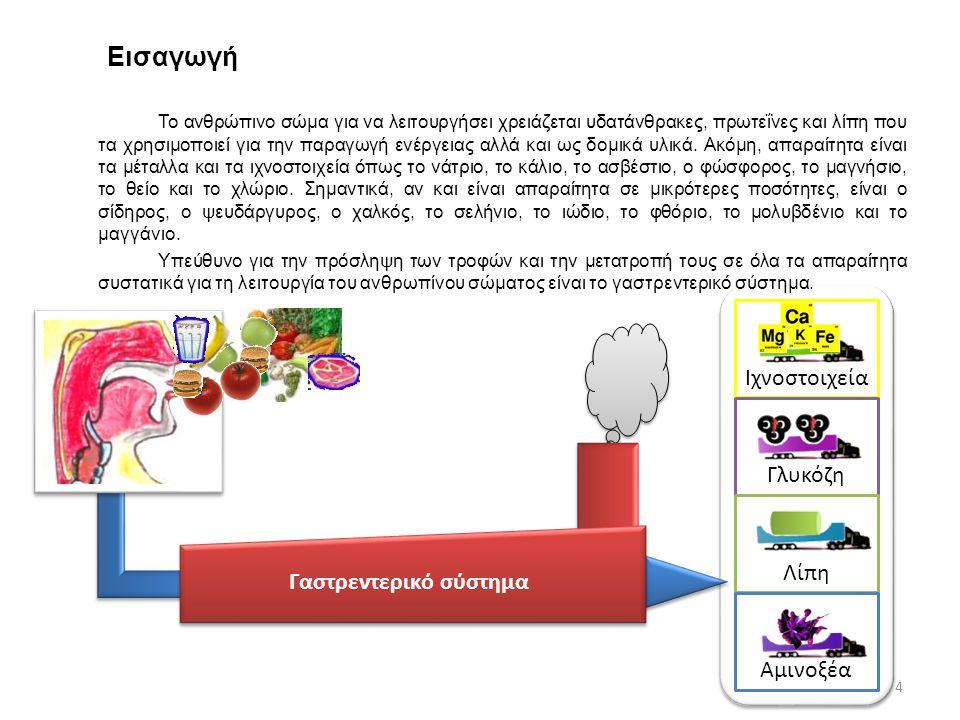 Ορμονική δράση Λειτουργίες του γαστρεντερικού συστήματος Το γαστρεντερικό σύστημα είναι υπεύθυνο για: α.