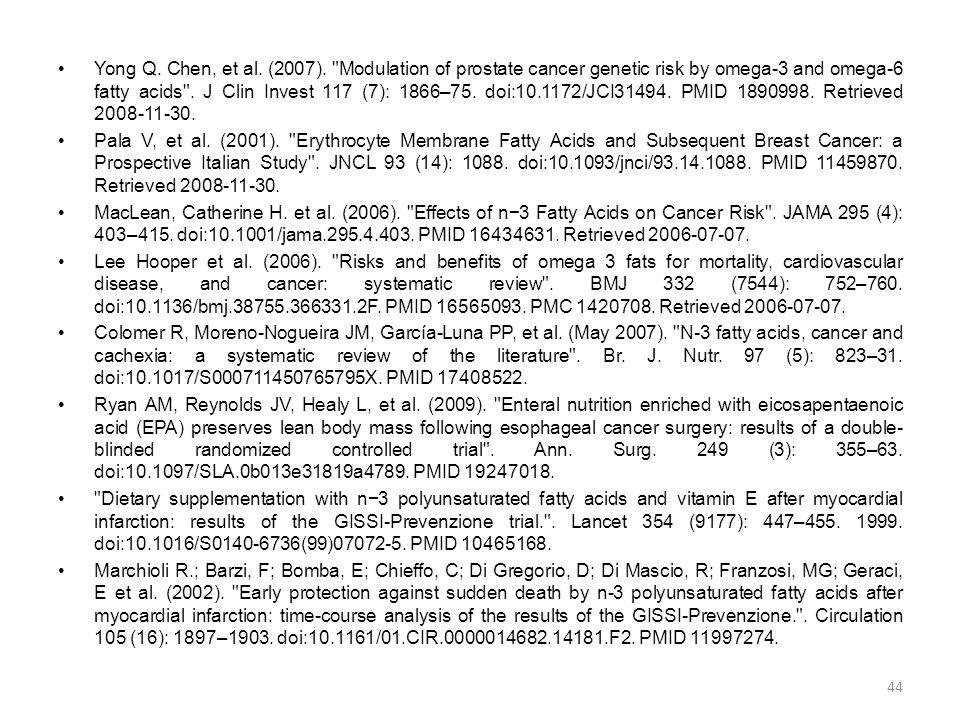 •Yong Q. Chen, et al. (2007).