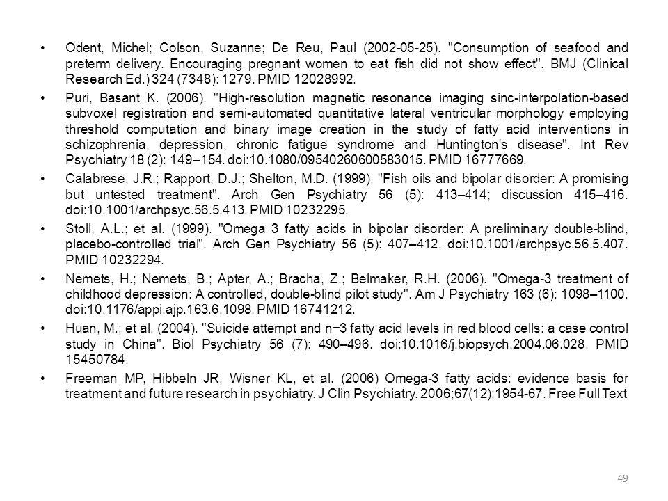 •Odent, Michel; Colson, Suzanne; De Reu, Paul (2002-05-25).