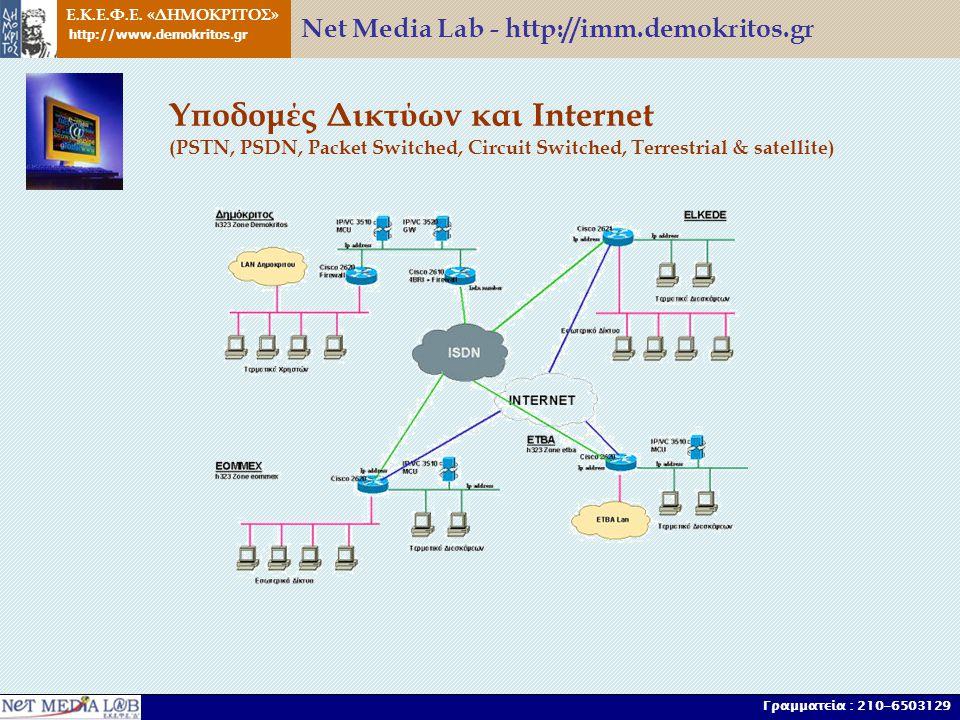 Ε.Κ.Ε.Φ.Ε. «ΔΗΜΟΚΡΙΤΟΣ» http://www.demokritos.gr Γραμματεία : 210-6503129 Υποδομές Δικτύων και Internet (PSTN, PSDN, Packet Switched, Circuit Switched