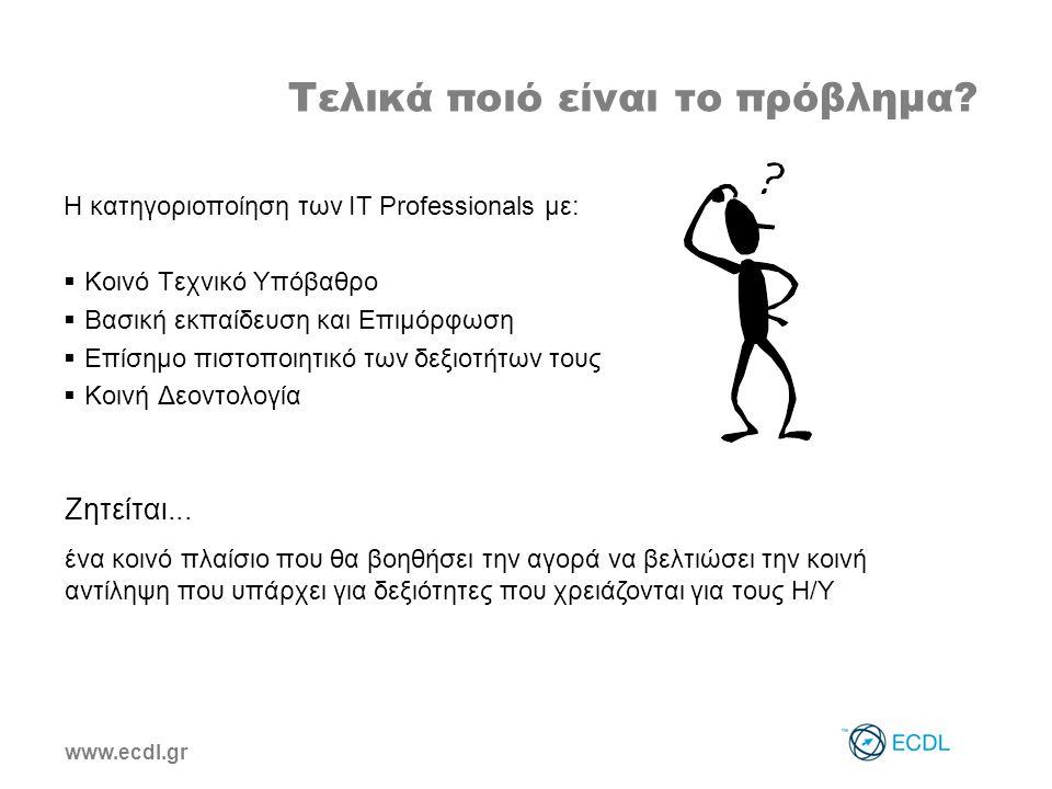 www.ecdl.gr Τελικά ποιό είναι το πρόβλημα.