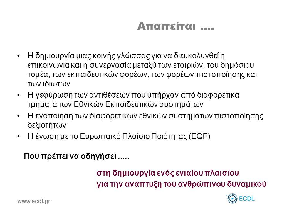 www.ecdl.gr Απαιτείται....