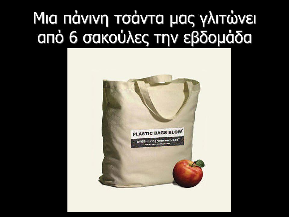 Μια πάνινη τσάντα μας γλιτώνει από 6 σακούλες την εβδομάδα