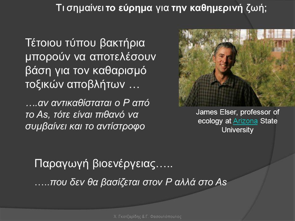 Χ. Γκοτζαρίδης & Γ. Φασουλόπουλος James Elser, professor of ecology at Arizona State UniversityArizona Τι σημαίνει το εύρημα για την καθημερινή ζωή; Τ