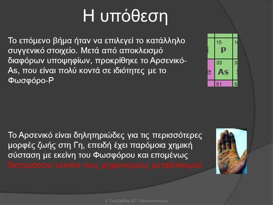 Χ. Γκοτζαρίδης & Γ. Φασουλόπουλος Η υπόθεση Το επόμενο βήμα ήταν να επιλεγεί το κατάλληλο συγγενικό στοιχείο. Μετά από αποκλεισμό διαφόρων υποψηφίων,