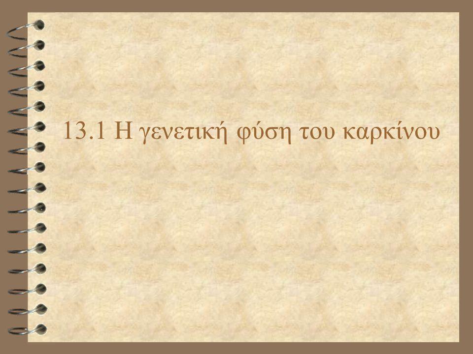 13.1 Η γενετική φύση του καρκίνου