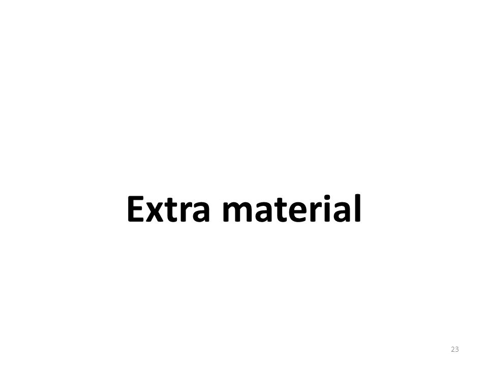 Extra material 23