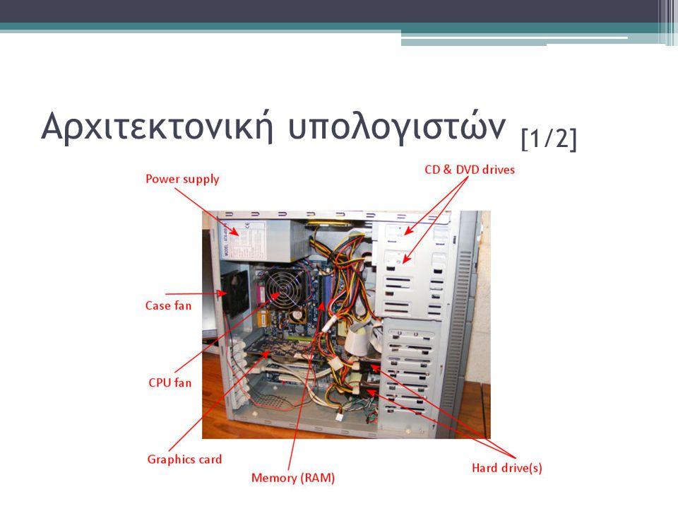 Αρχιτεκτονική υπολογιστών [2/2] •Ποια υποσυστήματα είναι απαραίτητα για την λειτουργία του υπολογιστή; ▫Που αποθηκεύονται τα δεδομένα; •Ποια η διαφορά αποθηκευτικού χώρου και μνήμης; •Γιατί μπορώ και μπαίνω στο διαδίκτυο από διαφορετικούς υπολογιστές; •Τι είναι ο προσωπικός υπολογιστής;