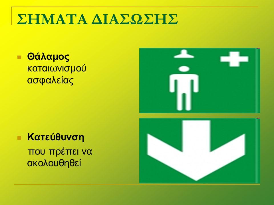 ΣΗΜΑΤΑ ΔΙΑΣΩΣΗΣ  Κατεύθυνση που πρέπει να ακολουθηθεί  Κατεύθυνση που πρέπει να ακολουθηθεί