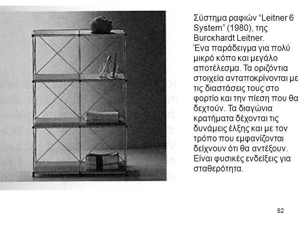 """52 Σύστημα ραφιών """"Leitner 6 System"""" (1980), της Burcκhardt Leitner. Ένα παράδειγμα για πολύ μικρό κόπο και μεγάλο αποτέλεσμα. Τα οριζόντια στοιχεία α"""