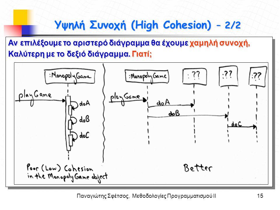 Παναγιώτης Σφέτσος, Μεθοδολογίες Προγραμματισμού ΙΙ15 Στόχοι Αν επιλέξουμε το αριστερό διάγραμμα θα έχουμε χαμηλή συνοχή, Καλύτερη με το δεξιό διάγραμ
