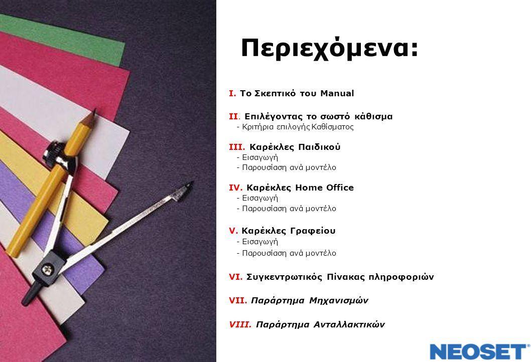 Περιεχόμενα: I.Το Σκεπτικό του Manual ΙΙ.