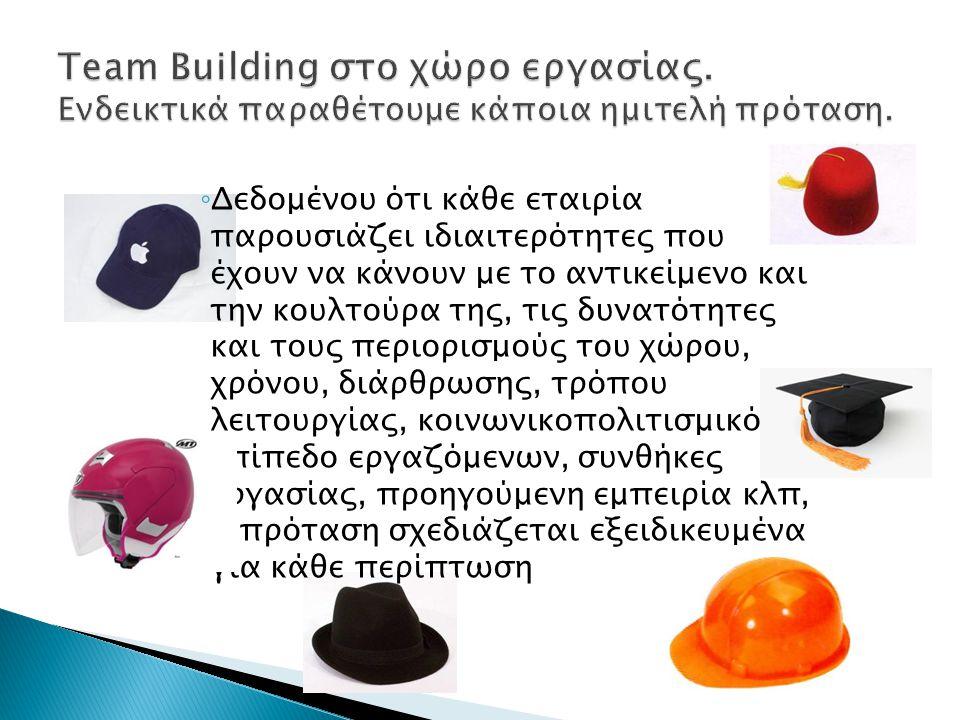 ◦ Δεδομένου ότι κάθε εταιρία παρουσιάζει ιδιαιτερότητες που έχουν να κάνουν με το αντικείμενο και την κουλτούρα της, τις δυνατότητες και τους περιορισ
