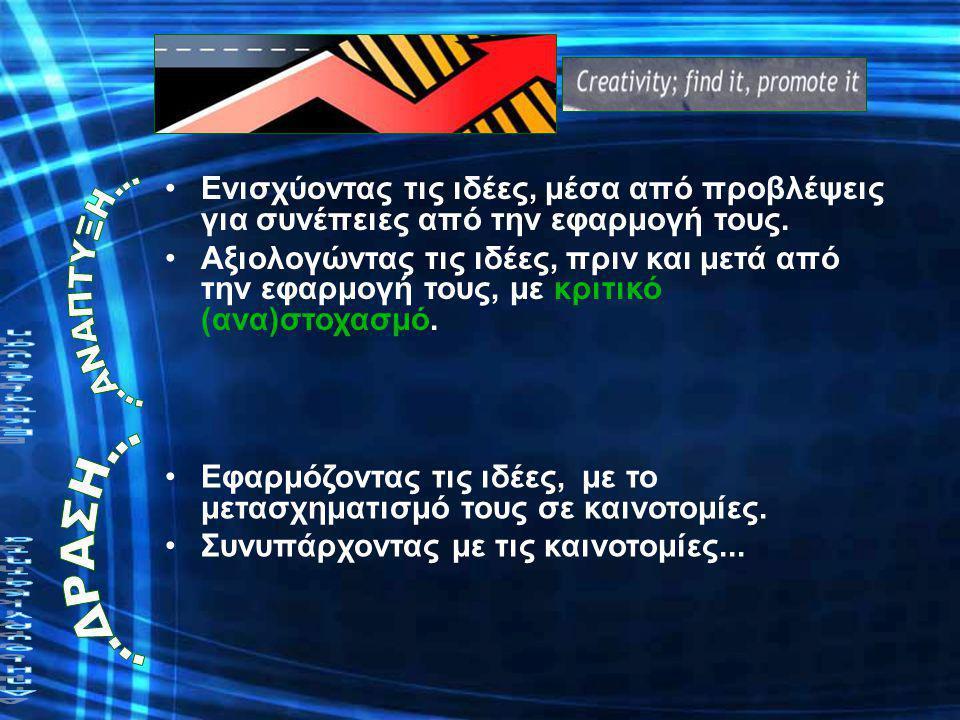 (Plsek, 1997) ΠροετοιμασίαΦαντασία ΔράσηΑνάπτυξη Ανάλυση Παραγωγή Συγκομιδή Ενίσχυση Αξιολόγηση Εφαρμογή Συνύπαρξη Παρατήρηση ΠροετοιμασίαΦαντασία ΔράσηΑνάπτυξη Ανάλυση Παραγωγή Συγκομιδή Ενίσχυση Αξιολόγηση Εφαρμογή Συνύπαρξη Παρατήρηση