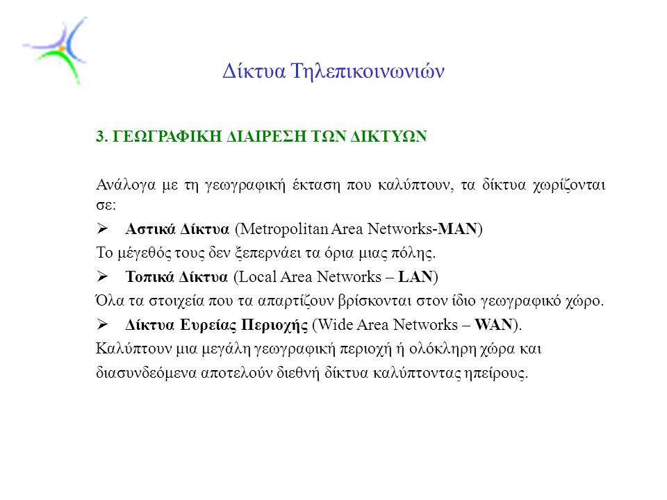 Slide 9 Δίκτυα Τηλεπικοινωνιών 3.