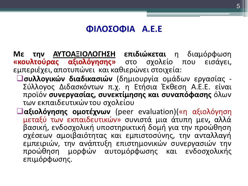 ΦΙΛΟΣΟΦΙΑ Α.Ε.Ε. από κάτω προς τα πάνω» (bottom – up) αξιολόγησης: 1.