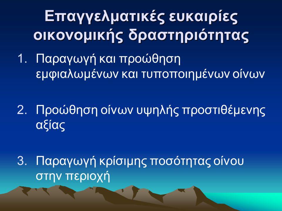 Επαγγελματικές ευκαιρίες οικονομικής δραστηριότητας 4.