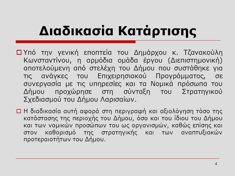 4  Υπό την γενική εποπτεία του Δημάρχου κ. Τζανακούλη Κωνσταντίνου, η αρμόδια ομάδα έργου (Διεπιστημονική) αποτελούμενη από στελέχη του Δήμου που συσ