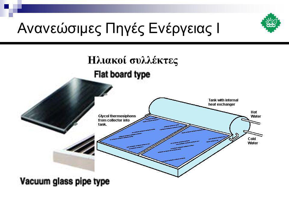 Ηλιακοί συλλέκτες Ανανεώσιμες Πηγές Ενέργειας Ι