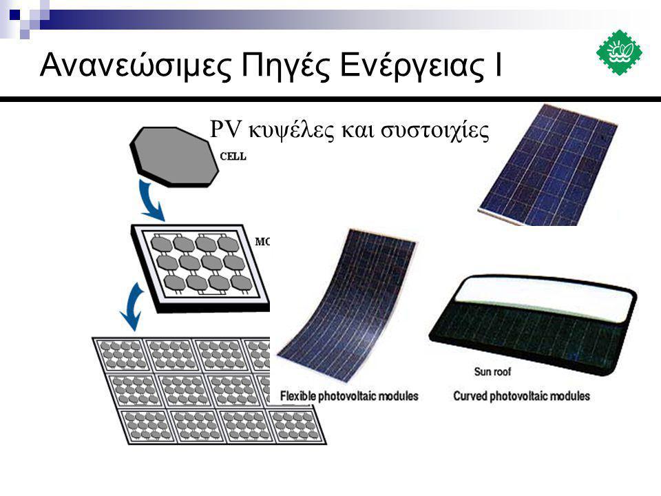 PV κυψέλες και συστοιχίες Ανανεώσιμες Πηγές Ενέργειας Ι