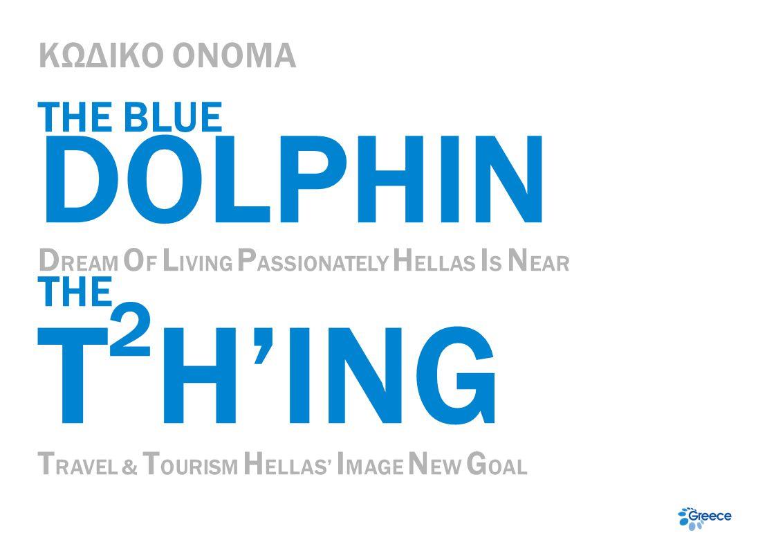 ΚΩΔΙΚΟ ΟΝΟΜΑ THE BLUE DOLPHIN D REAM O F L IVING P ASSIONATELY H ELLAS I S N EAR ΤΗΕ T 2 H'ING T RAVEL & T OURISM H ELLAS' I MAGE N EW G OAL