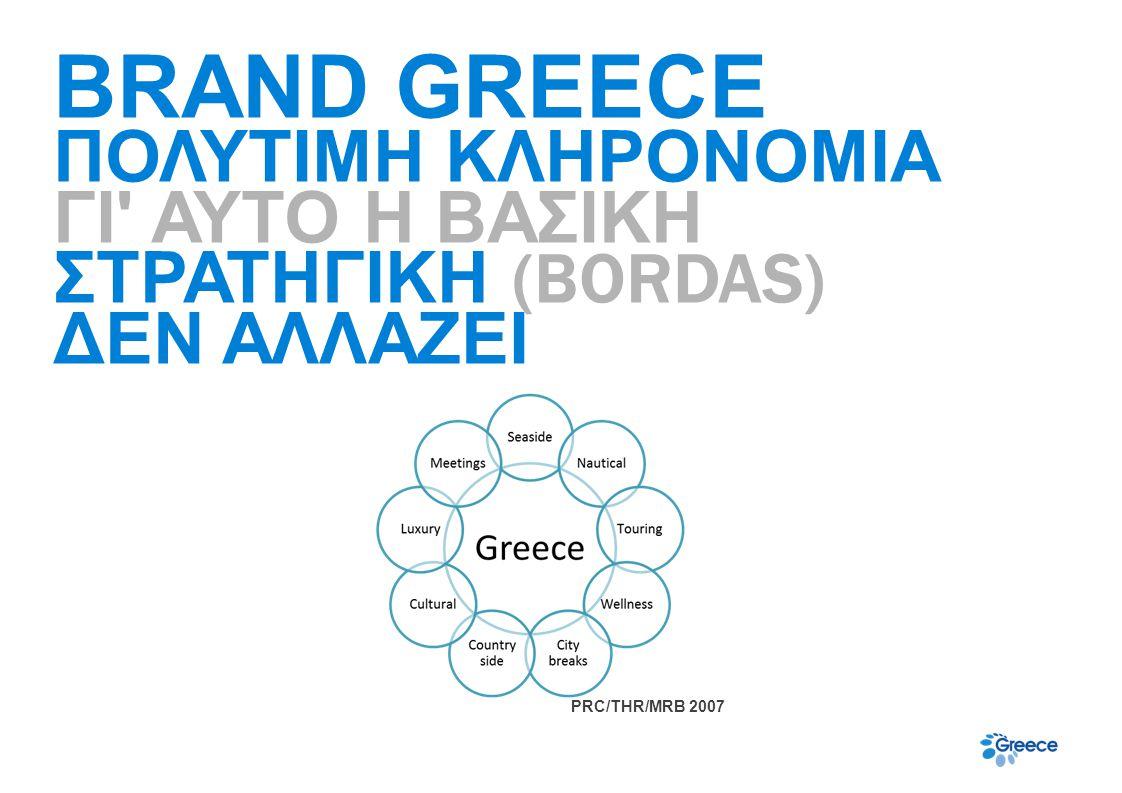 BRAND GREECE ΠΟΛΥΤΙΜΗ ΚΛΗΡΟΝΟΜΙΑ ΓΙ' ΑΥΤΟ Η ΒΑΣΙΚΗ ΣΤΡΑΤΗΓΙΚΗ (BORDAS) ΔΕΝ ΑΛΛΑΖΕΙ PRC/THR/MRB 2007
