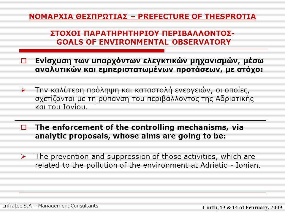 Νομαρχία Θεσπρωτίας Prefecture of Thesprotia Σας Ευχαριστώ για την προσοχή σας.