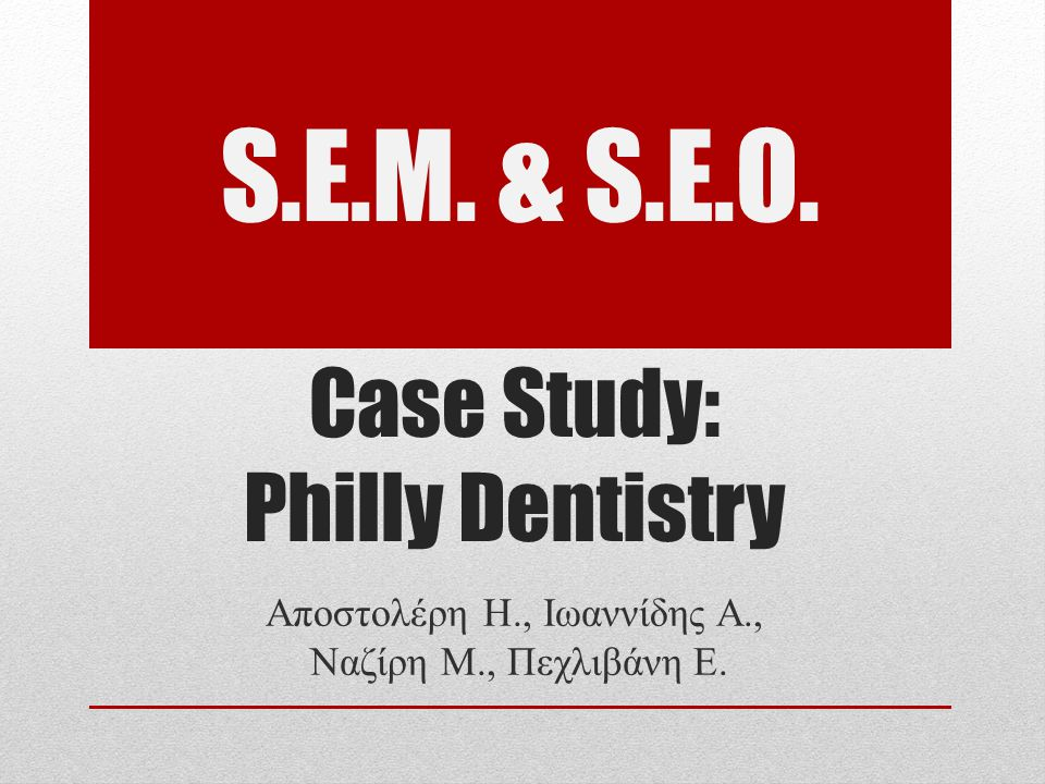 Δεύτερος Ανασχεδιασμός Τέλη 2007  Ανανέωση εμφάνισης  Προβολή προώθηση διαφορετικών υπηρεσιών  Περαιτέρω βελτιστοποίηση λόγου πελατών ως προς τους επισκέπτες  Διατήρηση υψηλής θέσης εμφάνισης σε μηχανές αναζήτησης  Ταχύτερη φόρτωση ιστοσελίδας Case Study: Philly Dentistry 12