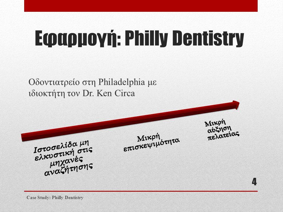 Εφαρμογή: Philly Dentistry Οδοντιατρείο στη Philadelphia με ιδιοκτήτη τον Dr. Ken Circa Case Study: Philly Dentistry 4