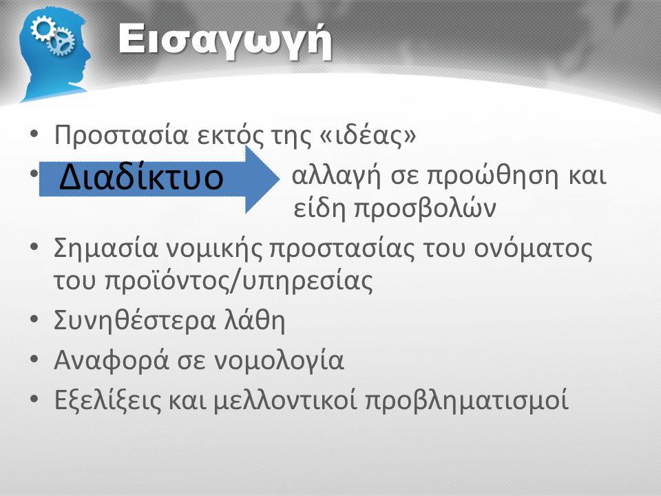 «Δέσμη» δικαιωμάτων • Πολλαπλή προστασία για ένα προϊόν/ υπηρεσία *ονομα & εμφάνιση