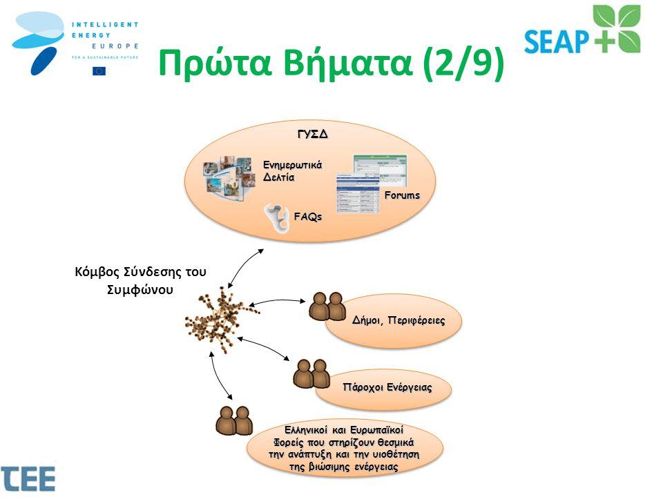 Πάροχοι Ενέργειας Πάροχοι Ενέργειας Δήμοι, Περιφέρειες Ενημερωτικά Δελτία Forums FAQs ΓΥΣΔ Ελληνικοί και Ευρωπαϊκοί Φορείς που στηρίζουν θεσμικά την ανάπτυξη και την υιοθέτηση της βιώσιμης ενέργειας Κόμβος Σύνδεσης του Συμφώνου Πρώτα Βήματα (2/9)