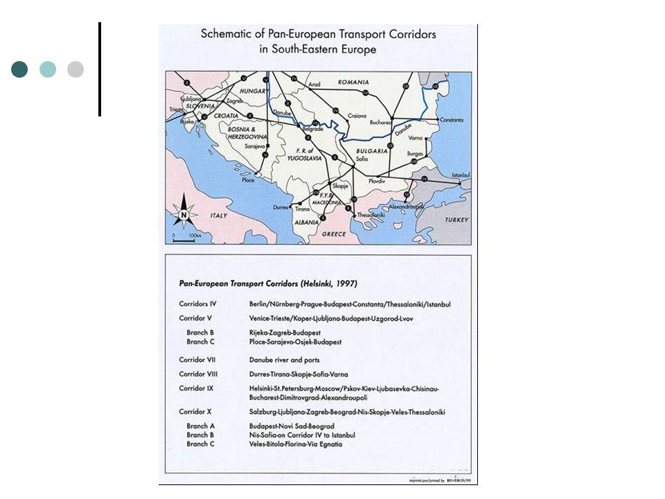 Συγκοινωνιακή υποδομή στη ΝΑ Ευρώπη: χαρακτηριστικά και προβλήματα Η σύγκριση των υποδομών μεταφορών της ΝΑ Ευρώπης με την αντίστοιχη της Ε.Ε.