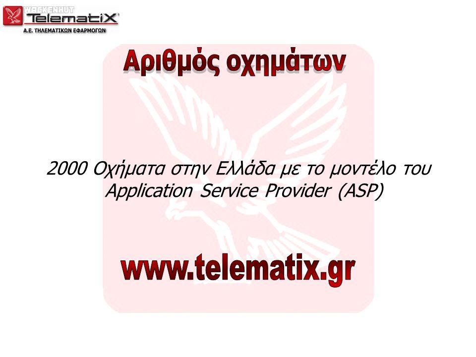 2000 Οχήματα στην Ελλάδα με το μοντέλο του Application Service Provider (ASP)