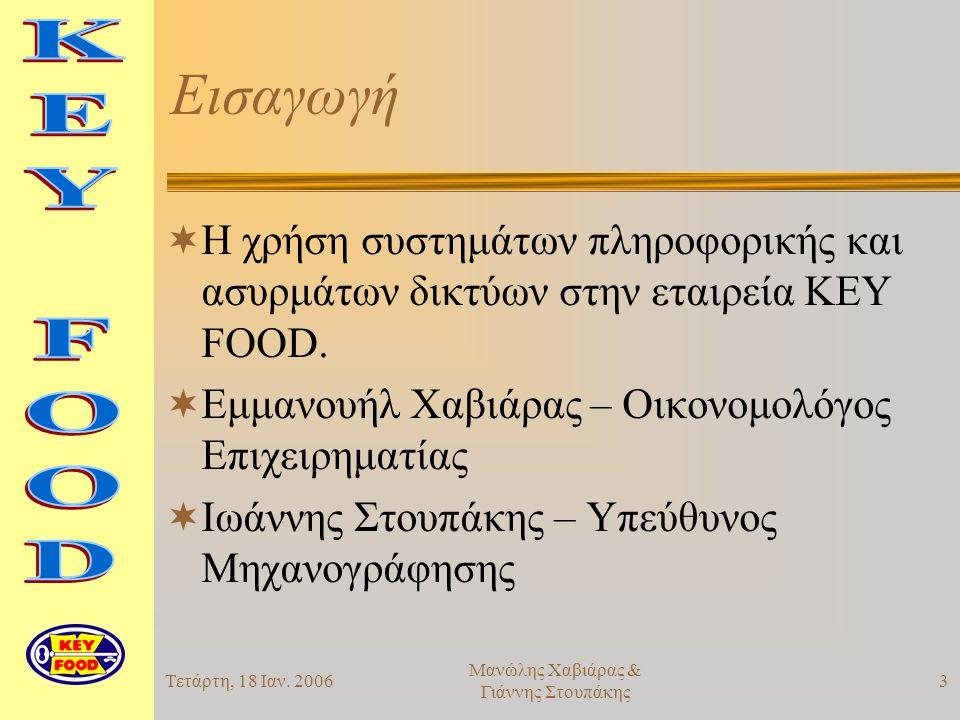Τετάρτη, 18 Ιαν.200614 Μανώλης Χαβιάρας & Γιάννης Στουπάκης Προσοχή!!.