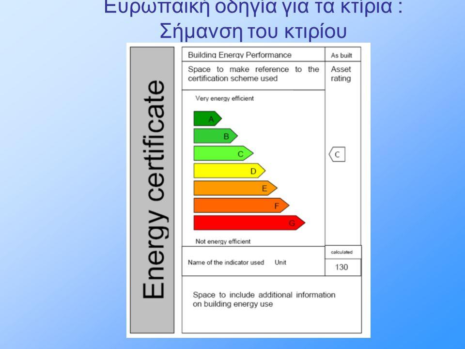 Ευρωπαϊκή οδηγία για τα κτίρια : Σήμανση του κτιρίου