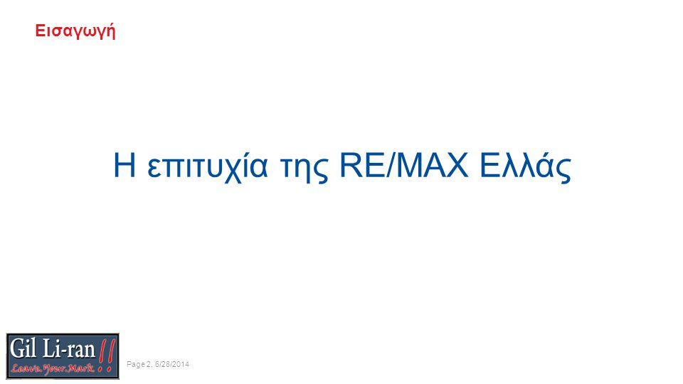 Εισαγωγή Η επιτυχία της RE/MAX Ελλάς Page 2, 6/28/2014
