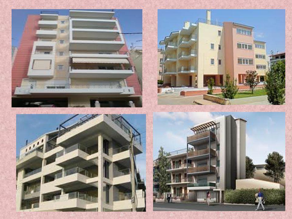 ΠΟΛΥΚΑΤΟΙΚΙΕΣ Η πολυκατοικία είναι κτίριο με πάνω από 2-3 ορόφους το οποίο χρησιμεύει για κατοικία περισσοτέρων από μια οικογενειών (πολύ-κατοικία). Σ