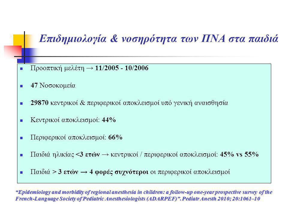 Επιδημιολογία & νοσηρότητα των ΠΝΑ στα παιδιά  Προοπτική μελέτη → 11/2005 - 10/2006  47 Νοσοκομεία  29870 κεντρικοί & περιφερικοί αποκλεισμοί υπό γ