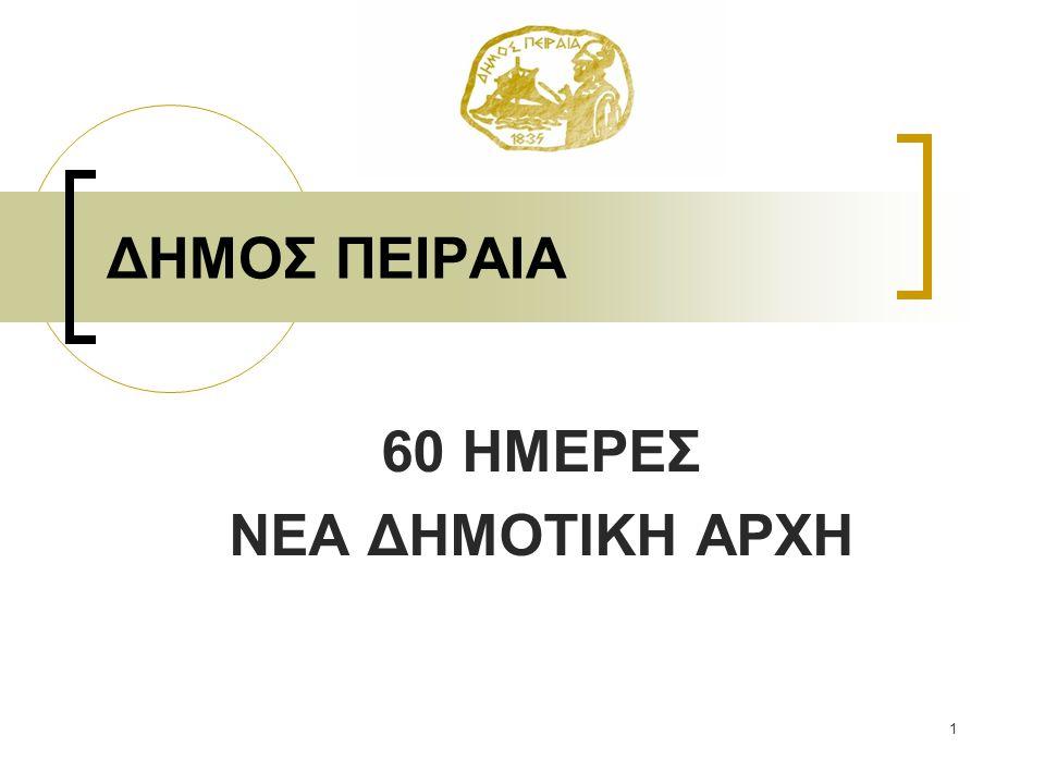 ΔΗΜΟΣ ΠΕΙΡΑΙΑ 60 ΗΜΕΡΕΣ ΝΕΑ ΔΗΜΟΤΙΚΗ ΑΡΧΗ 1