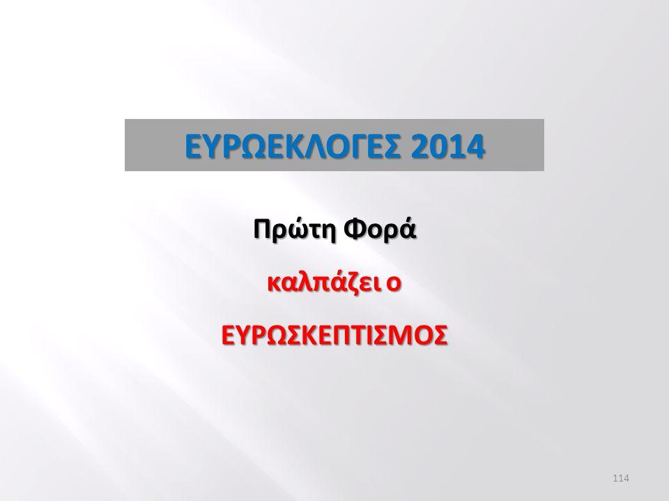ΕΥΡΩΕΚΛΟΓΕΣ 2014 Πρώτη Φορά καλπάζει ο ΕΥΡΩΣΚΕΠΤΙΣΜΟΣ 114