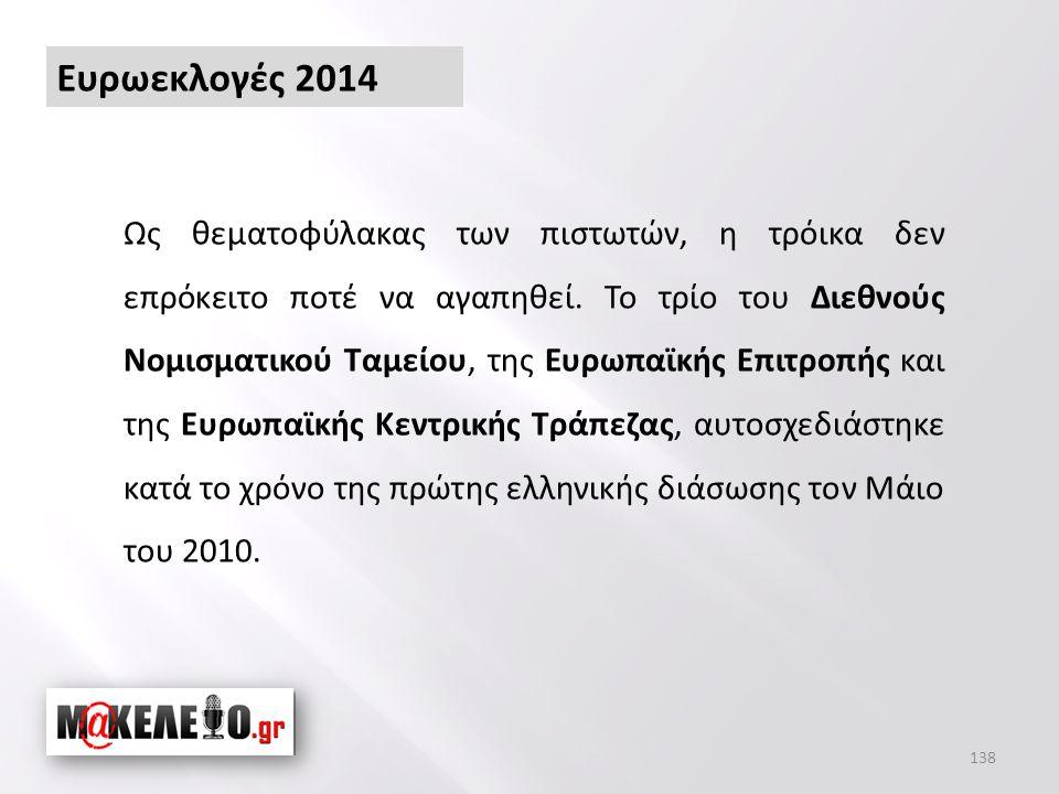 Ευρωεκλογές 2014 Ως θεματοφύλακας των πιστωτών, η τρόικα δεν επρόκειτο ποτέ να αγαπηθεί.