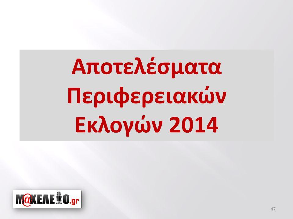 Αποτελέσματα Περιφερειακών Εκλογών 2014 47