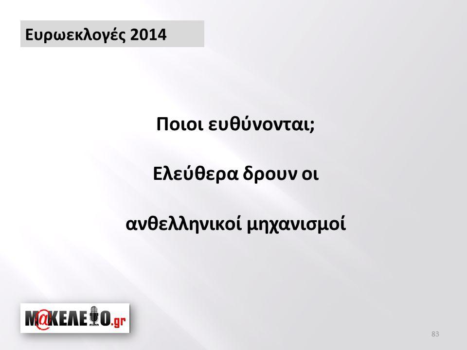 83 Ποιοι ευθύνονται; Ελεύθερα δρουν οι ανθελληνικοί μηχανισμοί Ευρωεκλογές 2014