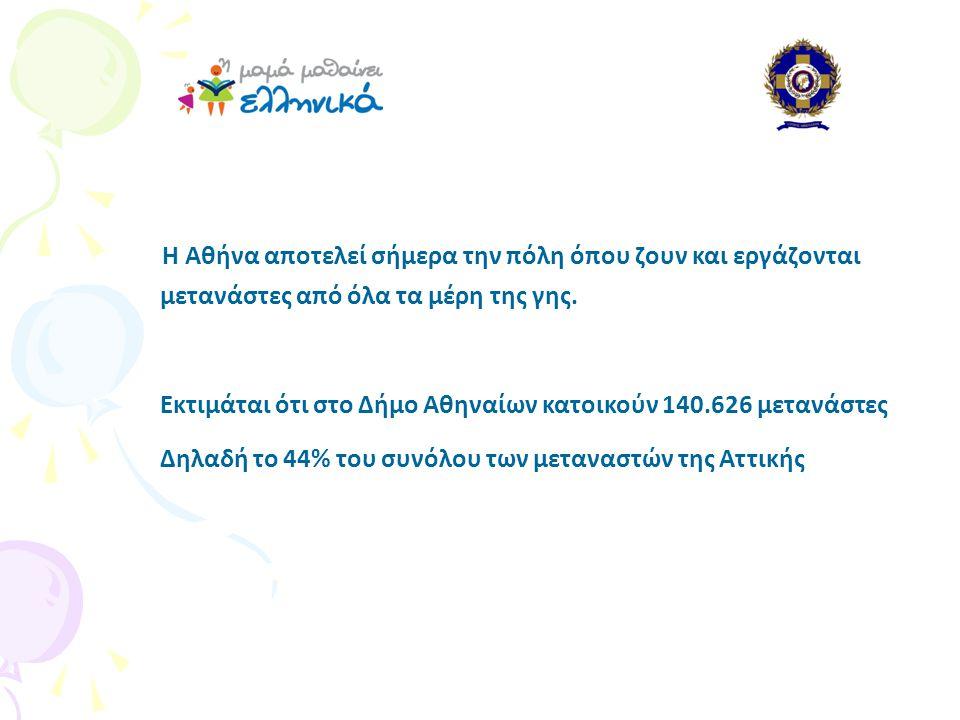 Η Αθήνα αποτελεί σήμερα την πόλη όπου ζουν και εργάζονται μετανάστες από όλα τα μέρη της γης.