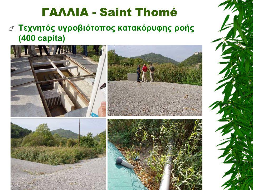 ΓΑΛΛΙΑ - Saint Thomé  Τεχνητός υγροβιότοπος κατακόρυφης ροής (400 capita)