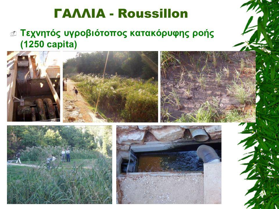 ΓΑΛΛΙΑ - Roussillon  Τεχνητός υγροβιότοπος κατακόρυφης ροής (1250 capita)